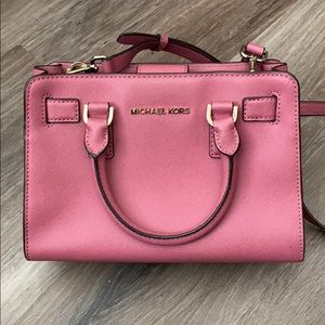 Michael Kors Rose Pink Crossbody Purse Handbag